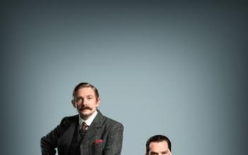 Benedict Cumberbatch e Martin Freeman posano per Sherlock