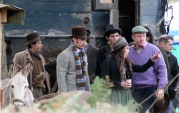 Noomi Rapace sul set di Sherlock Holmes 2