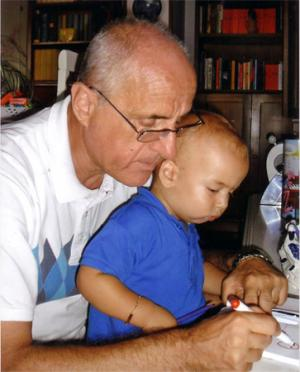 Fabio Lotti, col nipotino Jonathan
