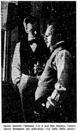 Immagine di scena apparsa sui quotidiani dell'epoca