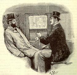 Illustrazione originale per il racconto The Greek Interpreter di S. Paget