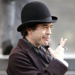 Robert Downey jr sul set