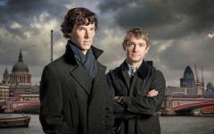 Benedict Cumberbatch alla convention britannica di Sherlock