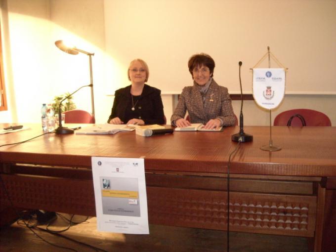 A sinistra Cecilia Scerbanenco
